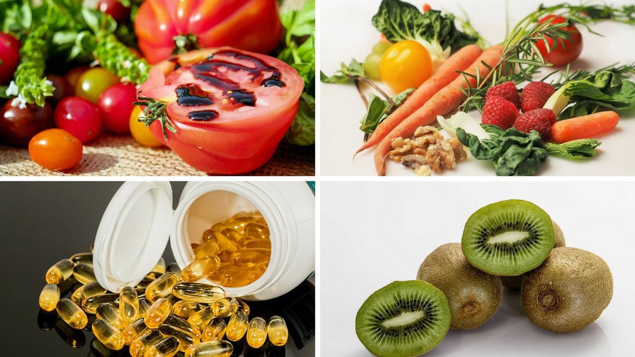 Alimentos y vitaminas salud vista y ojos
