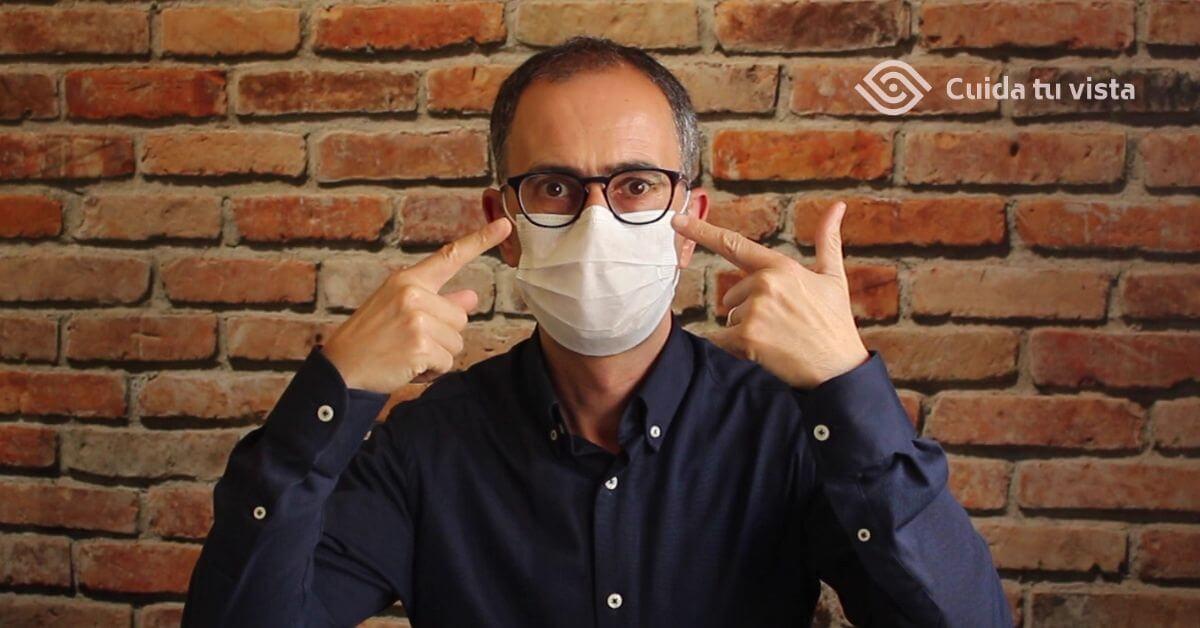 como evitar se empañen las gafas si usas mascarilla