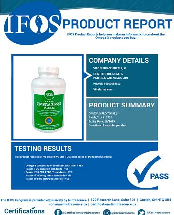 Marcas recomendadas de omega 3 con certificado IFOS
